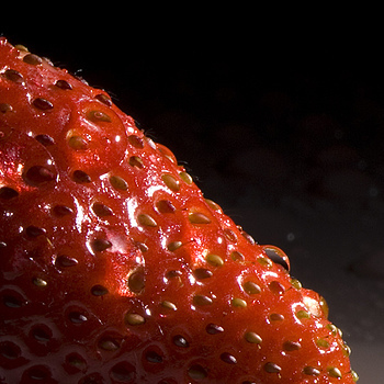 Wet Strawberry | NIKON 105MM F/2.8G AF MICRO VR <br> Click image for more details, Click <b>X</b> on top right of image to close