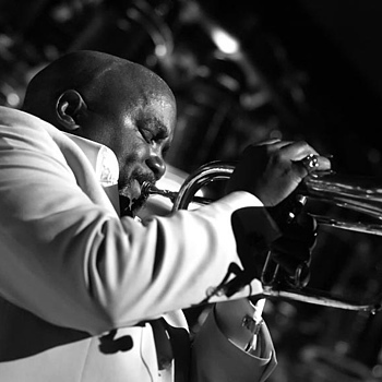 Trumpeter Joey Summerville | NIKON 85MM F/1.8 AF <br> Click image for more details, Click <b>X</b> on top right of image to close