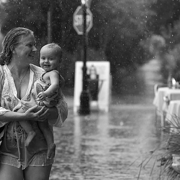Enjoying the rain | NIKON 85MM F/1.8 AF <br> Click image for more details, Click <b>X</b> on top right of image to close