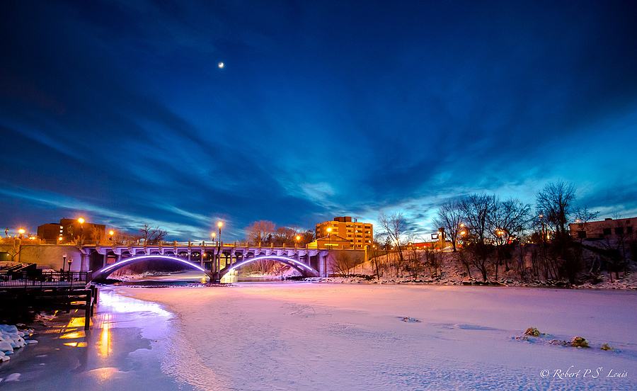 Moon over Anoka | NIKON 16-35MM F/4G ED AF-S VR <br> Click image for more details, Click <b>X</b> on top right of image to close