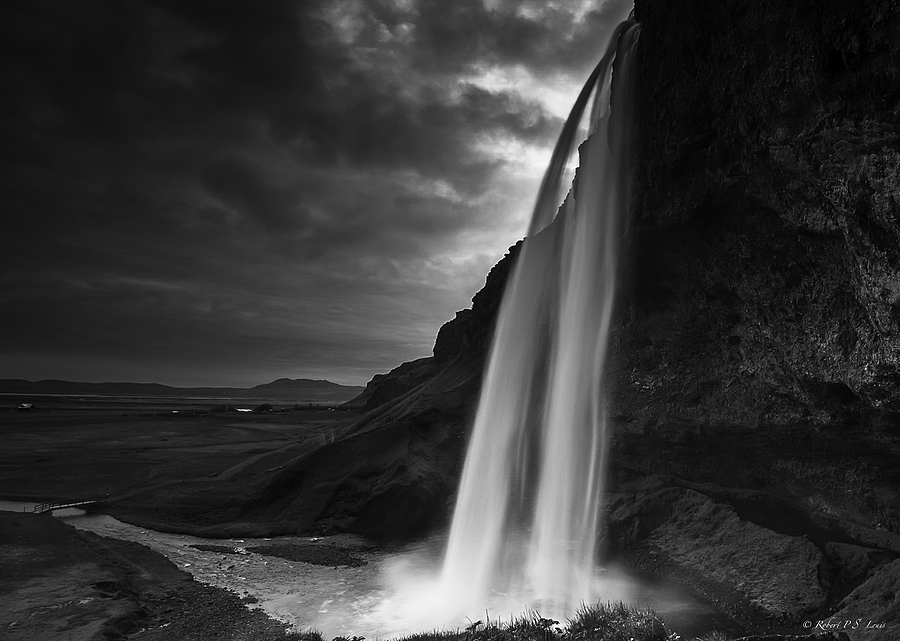 Seljalandsfoss in B&W | NIKON 16-35MM F/4G ED AF-S VR <br> Click image for more details, Click <b>X</b> on top right of image to close
