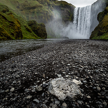 Skogafoss Base | NIKON 16-35MM F/4G ED AF-S VR <br> Click image for more details, Click <b>X</b> on top right of image to close