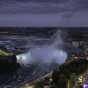 Niagara Falls Canada @ Dusk | NIKON 16-35MM F/4G ED AF-S VR <br> Click image for more details, Click <b>X</b> on top right of image to close