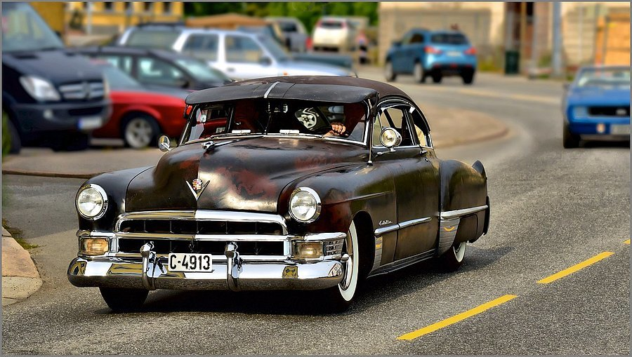 1948-model Cadillac Cruising by | NIKKOR AF-S 70-200MM F/4G ED VR <br> Click image for more details, Click <b>X</b> on top right of image to close