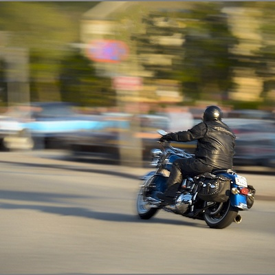 Biker on the Move! | NIKON 16-35MM F/4G ED AF-S VR <br> Click image for more details, Click <b>X</b> on top right of image to close