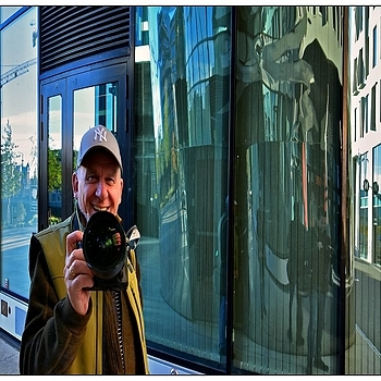Selfportrait in Concave Steel Mirror | NIKON 14-24MM F/2.8G ED AF-S N <br> Click image for more details, Click <b>X</b> on top right of image to close