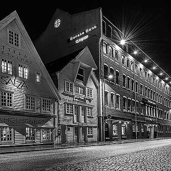 Stavanger Port B/W | NIKON 14-24MM F/2.8G ED AF-S N <br> Click image for more details, Click <b>X</b> on top right of image to close