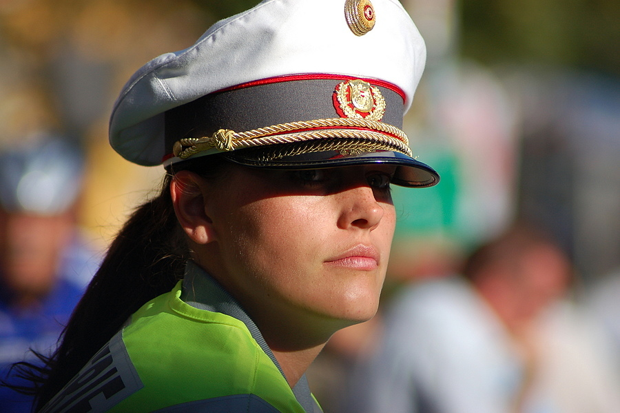 Austrian Policewoman | NIKON 70-300MM F/4-5.6G AF <br> Click image for more details, Click <b>X</b> on top right of image to close