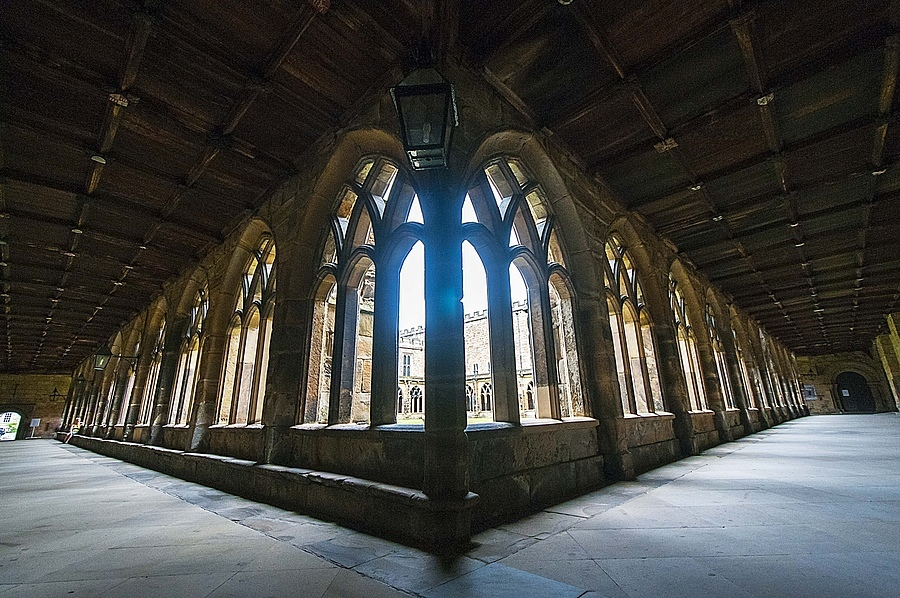 Cloisters, Durham Cathedral | NIKON 10-24MM F/3.5-4.5 ED AF-S DX <br> Click image for more details, Click <b>X</b> on top right of image to close