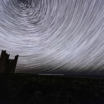 Dunstanburgh Star Trail | NIKON 10-24MM F/3.5-4.5 ED AF-S DX <br> Click image for more details, Click <b>X</b> on top right of image to close