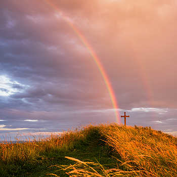 Rainbow at Alnmouth, Northumberland