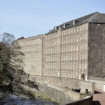 New Lanark Main Mill Building | NIKON 18-105MM F/3.5-5.6G ED-IF AF-S VR DX <br> Click image for more details, Click <b>X</b> on top right of image to close