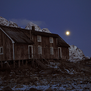 Moon in Lofoten, Norway | NIKON 17-55MM F/2.8G ED-IF AF-S DX <br> Click image for more details, Click <b>X</b> on top right of image to close
