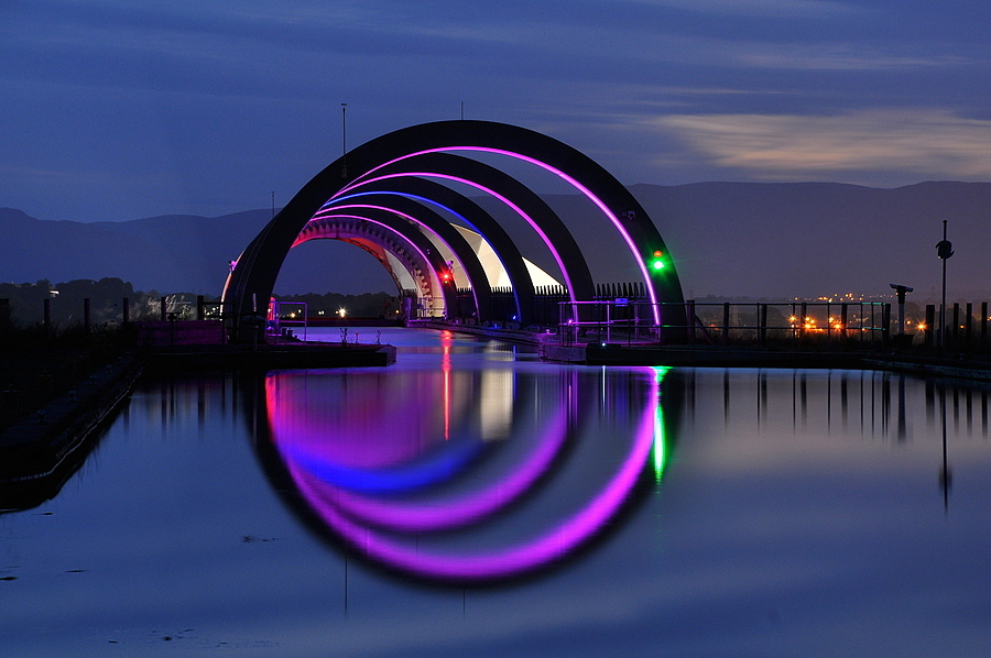 The Falkirk Wheel,Scotland | NIKON 18-105MM F/3.5-5.6G ED-IF AF-S VR DX <br> Click image for more details, Click <b>X</b> on top right of image to close