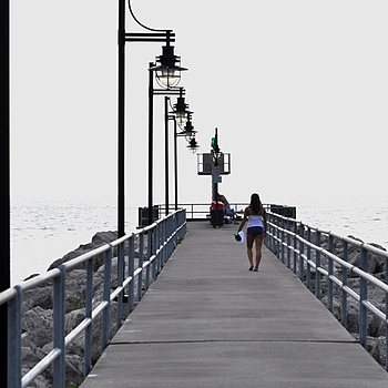 A walk on the pier | NIKON 55-200MM F/4-5.6G ED AF-S DX <br> Click image for more details, Click <b>X</b> on top right of image to close