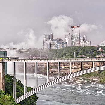 Niagara Falls looking up stream from old US power station | NIKON 18-105MM F/3.5-5.6G ED-IF AF-S VR DX