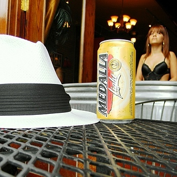 Hat and beer | LENS MODEL NOT SET