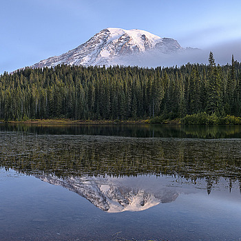 Mt Rainier Waking Up | NIKON 24-70MM F/2.8G ED AF-S N <br> Click image for more details, Click <b>X</b> on top right of image to close