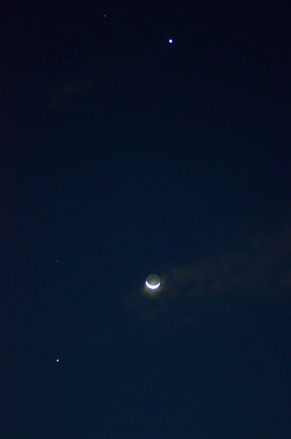 Regulus, Venus, Mars, Moon, Jupiter | NIKON 85MM F/1.8 <br> Click image for more details, Click <b>X</b> on top right of image to close