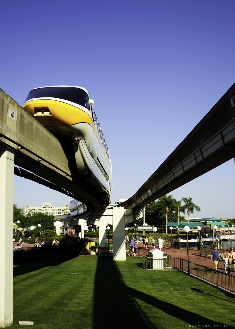 Monorail - Magic Kingdom | ZEISS ZF-II DISTAGON T* F2.0 35MM <br> Click image for more details, Click <b>X</b> on top right of image to close