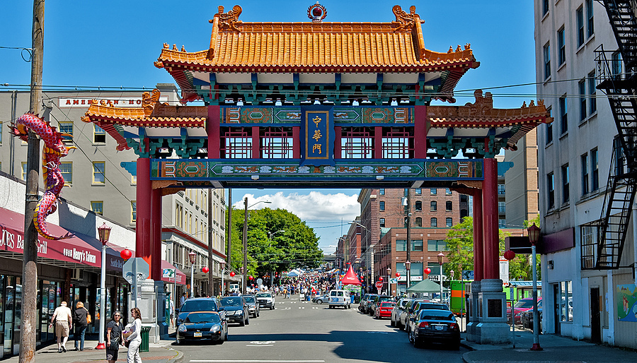 Seattle Chinatown Gate | NIKON 24-70MM F/2.8G ED AF-S N <br> Click image for more details, Click <b>X</b> on top right of image to close