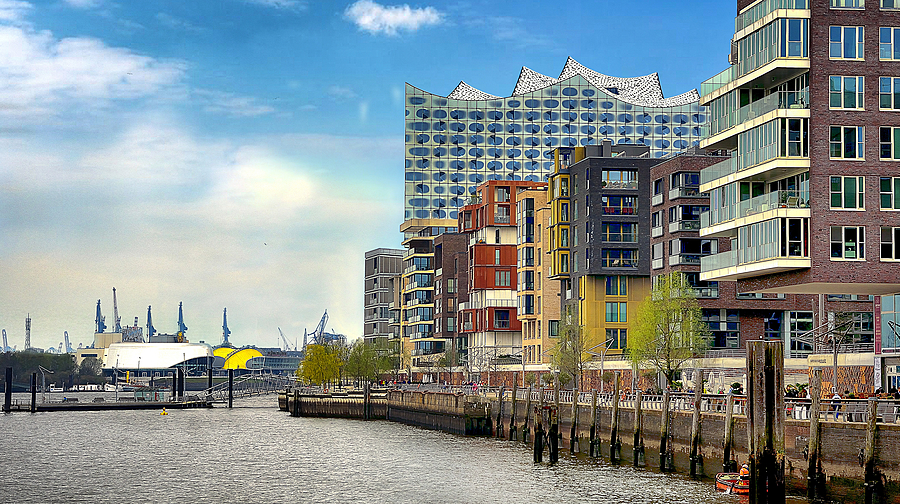 HafenCity. Hamburg. Germany | NIKON 18-105MM F/3.5-5.6G ED-IF AF-S VR DX <br> Click image for more details, Click <b>X</b> on top right of image to close
