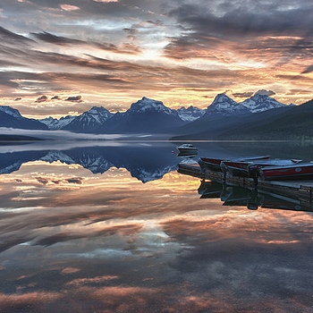 Sunrise, Lake McDonald | NIKON 14-24MM F/2.8G ED AF-S N <br> Click image for more details, Click <b>X</b> on top right of image to close