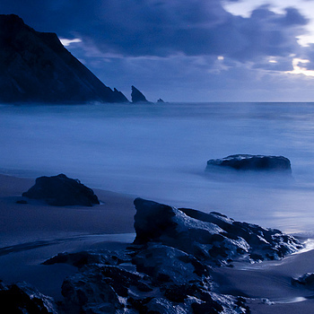 Night seascape I | NIKON 16-85MM F/3.5-5.6G ED AF-S VR DX <br> Click image for more details, Click <b>X</b> on top right of image to close