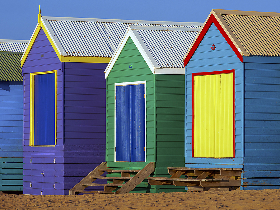 Colourful Beach Huts | NIKON 70-200MM F/2.8G ED AF-S VR II <br> Click image for more details, Click <b>X</b> on top right of image to close