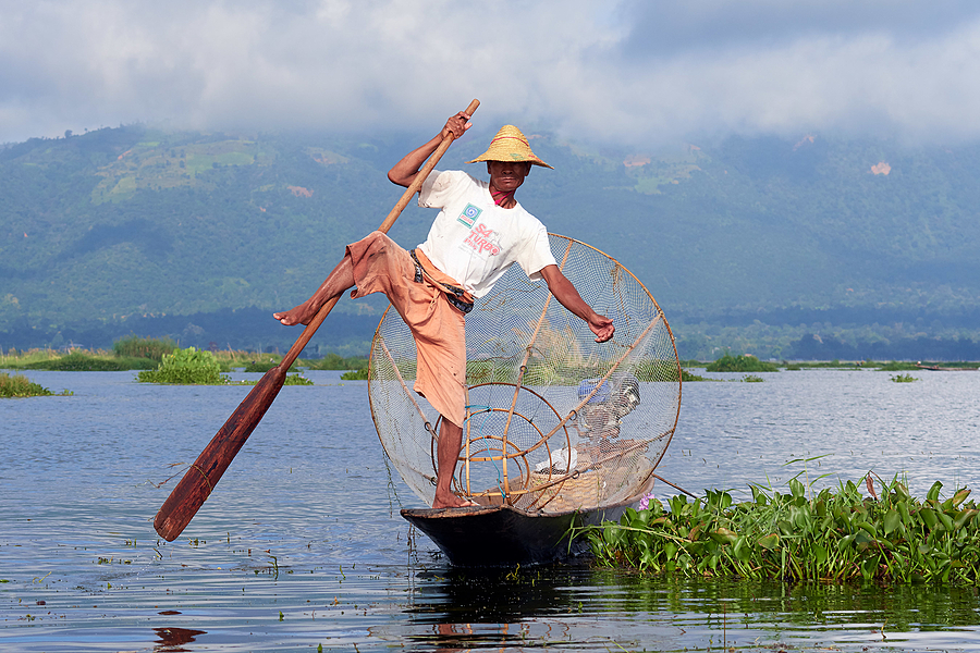 Inle Lake Fisherman 1 | NIKON AF-S 80-400MM VRII <br> Click image for more details, Click <b>X</b> on top right of image to close