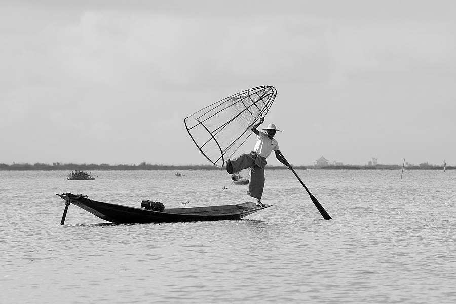 Inle Lake Fisherman 2 | NIKON AF-S 80-400MM VRII <br> Click image for more details, Click <b>X</b> on top right of image to close