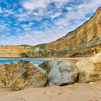Twelve Apostles area, Great Ocean Road, Victoria, Australia. | NIKON 24MM F/1.4G ED AF-S <br> Click image for more details, Click <b>X</b> on top right of image to close