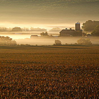 Fog in the Baraboo River Valley