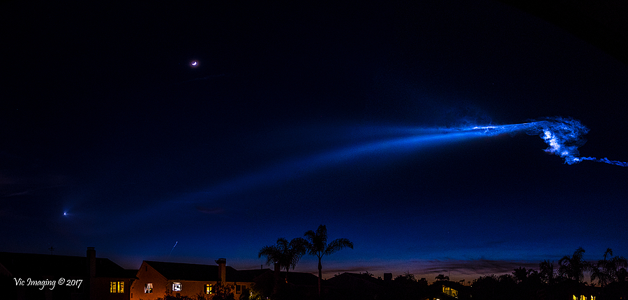 Falcon 9 Launch over So Cal | NIKON 70-200MM F/2.8G ED AF-S VR II <br> Click image for more details, Click <b>X</b> on top right of image to close