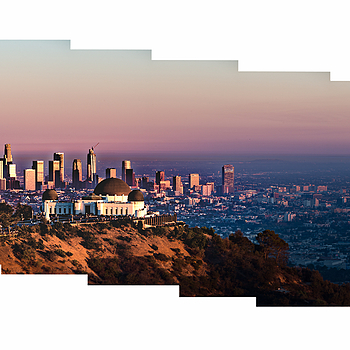 Griffith Obsevatory and Downtown LA Sunset | LENS MODEL NOT SET