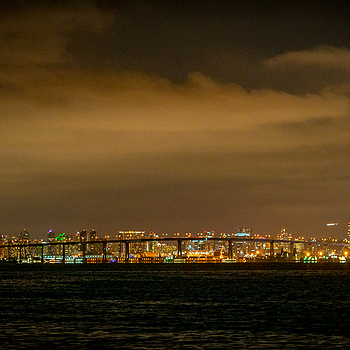 Coronado Bridge and San Diego, CA
