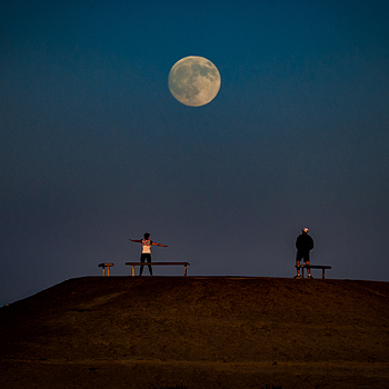 Bolsa Chica Moonrise | LENS MODEL NOT SET