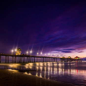 HB Pier Sunset 2 | LENS MODEL NOT SET