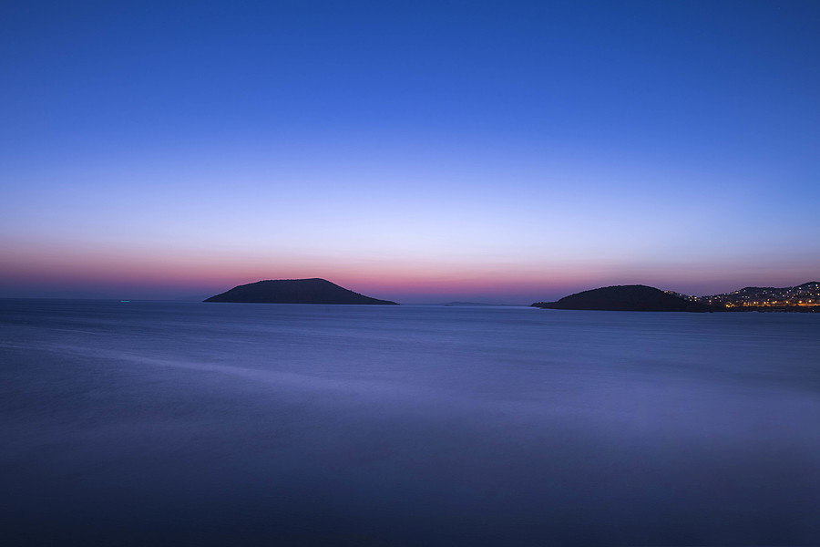 Aegean Blue Hour  | AF-S NIKKOR 24MM F/1.4G ED <br> Click image for more details, Click <b>X</b> on top right of image to close