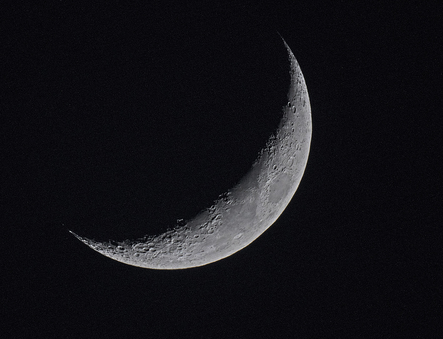 Crescent Moon | NIKON 1000MM F/11.0 REFLEX <br> Click image for more details, Click <b>X</b> on top right of image to close