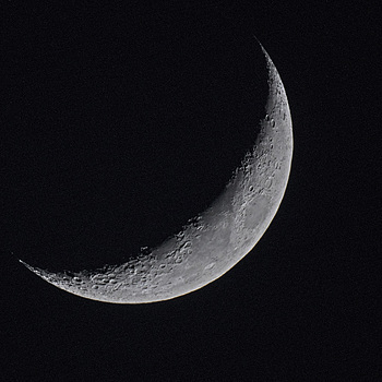 Crescent Moon | NIKON 1000MM F/11.0 REFLEX