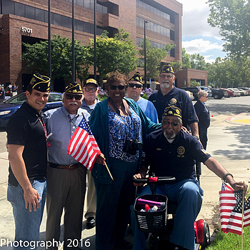 American Legion Post 295 U.S. Flag Raising | NIKON 18-55MM F/3.5-5.6G AF-S VR DX <br> Click image for more details, Click <b>X</b> on top right of image to close