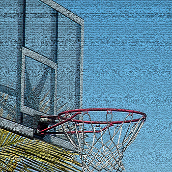An Outdoor Basketball Rim | LENS MODEL NOT SET <br> Click image for more details, Click <b>X</b> on top right of image to close