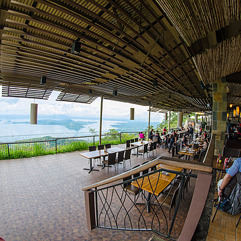 Gerry's Grill, Tagaytay, Philippines overlooking Taal Volcano | SAMYANG 8MM F/3.5 FISHEYE <br> Click image for more details, Click <b>X</b> on top right of image to close