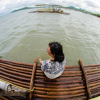 The globe from a raft | SAMYANG 8MM F/3.5 FISHEYE <br> Click image for more details, Click <b>X</b> on top right of image to close