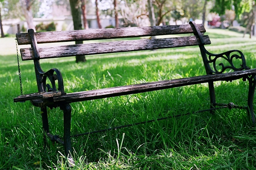 park bench | NIKON 50MM F/1.4 <br> Click image for more details, Click <b>X</b> on top right of image to close