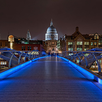 Millennium Bridge | NIKON 16-35MM F/4G ED AF-S VR <br> Click image for more details, Click <b>X</b> on top right of image to close