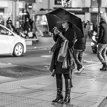 Mary Poppins of Oxford street | NIKON 50MM F/1.4G AF-S <br> Click image for more details, Click <b>X</b> on top right of image to close