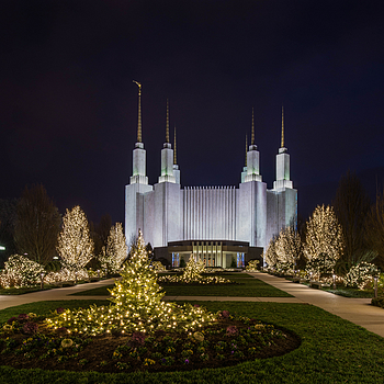2015 Festival of Lights - Washington, DC, Mormon Temple