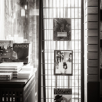 At a bookshop | NIKON 50MM F/1.4 <br> Click image for more details, Click <b>X</b> on top right of image to close